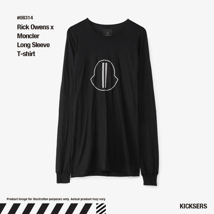 RICK OWENS Long Sleeve Crew Neck Pullovers Unisex Street Style Collaboration