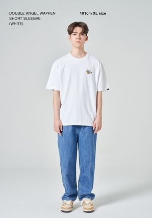 Mark Gonzales More T-Shirts Unisex Street Style Plain Short Sleeves Logos on the Sleeves 2