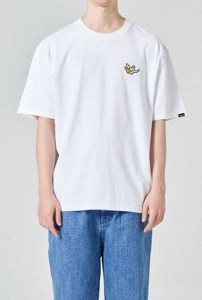 Mark Gonzales More T-Shirts Unisex Street Style Plain Short Sleeves Logos on the Sleeves 3
