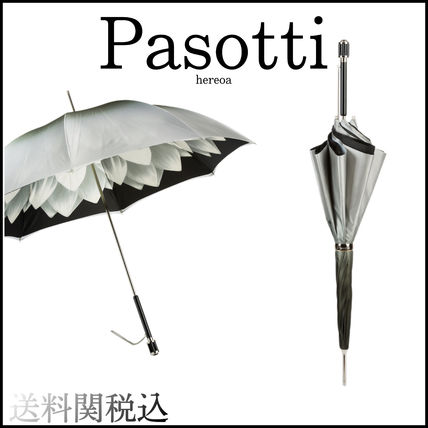 Flower Patterns Plain Logo Umbrellas & Rain Goods