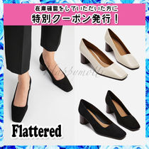 Flattered Square Toe Casual Style Leather Handmade Party Style