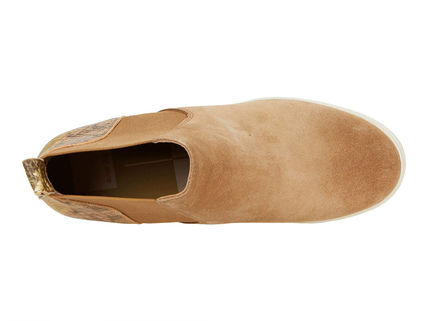 Round Toe Casual Style Suede Street Style Plain Leather