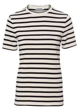 Stripes Cotton Medium Logo T-Shirts