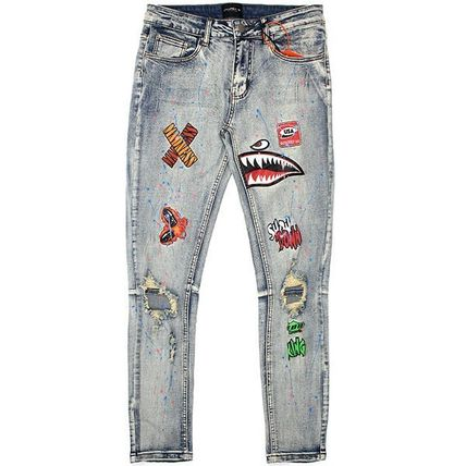 COOPER 9 More Jeans Denim Blended Fabrics Street Style Other Animal Patterns