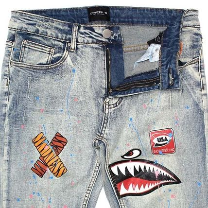 COOPER 9 More Jeans Denim Blended Fabrics Street Style Other Animal Patterns 3