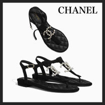 CHANEL Casual Style Suede Party Style Elegant Style Mules