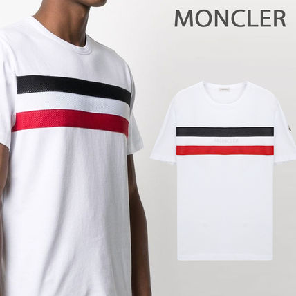 MONCLER More T-Shirts Street Style Cotton Short Sleeves Logo T-Shirts