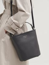 BEAN POLE Casual Style Plain Leather Crossbody Formal Style  Satchels