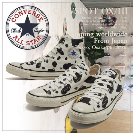 CONVERSE ALL STAR Unisex Plain Logo Low-Top Sneakers