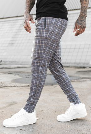 Other Plaid Patterns Street Style Skinny Jeans