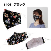 TOCCA Face Masks Flower Patterns Street Style Bridal Icy Color Face Masks 6