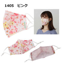 TOCCA Face Masks Flower Patterns Street Style Bridal Icy Color Face Masks 8