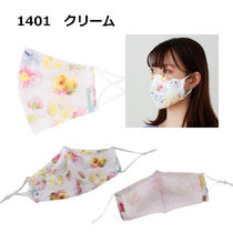 TOCCA Face Masks Flower Patterns Street Style Bridal Icy Color Face Masks 16