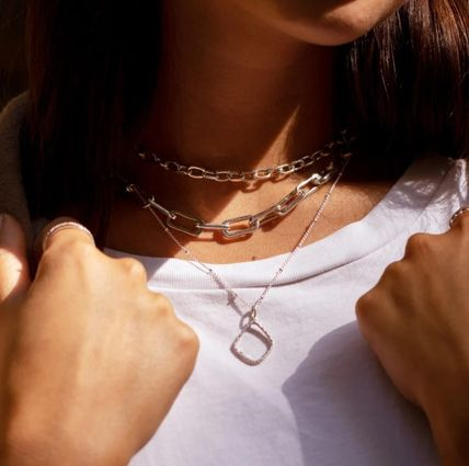 Costume Jewelry Casual Style Chain Party Style Silver