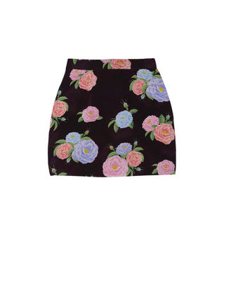 Short Flower Patterns Street Style Icy Color Mini Skirts
