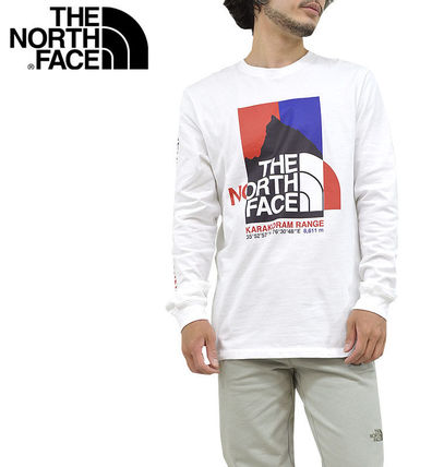 THE NORTH FACE Long Sleeve Crew Neck Pullovers Unisex Street Style Long Sleeves Cotton 2
