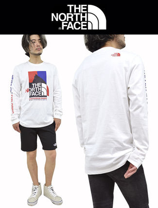 THE NORTH FACE Long Sleeve Crew Neck Pullovers Unisex Street Style Long Sleeves Cotton 3