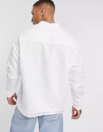 ASOS Shirts Asos Design Relaxed Fit Overhead Linen Shirt In White 2