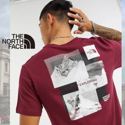 THE NORTH FACE More T-Shirts Street Style Cotton Short Sleeves Logo Outdoor T-Shirts