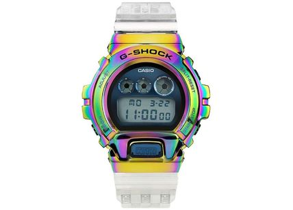 Unisex Street Style Collaboration Bridal Metallic