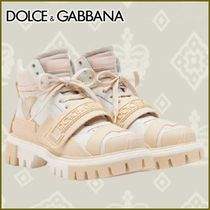 Dolce & Gabbana Multi-Colored Mixed Material Trekking Shoes With Logo