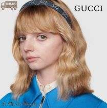 GUCCI Casual Style Party Style Elegant Style Bridal Headbands