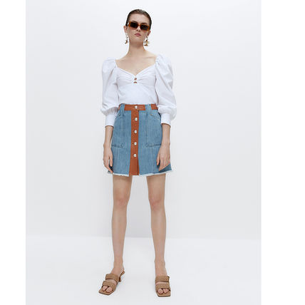 Casual Style Party Style Elegant Style Skirts