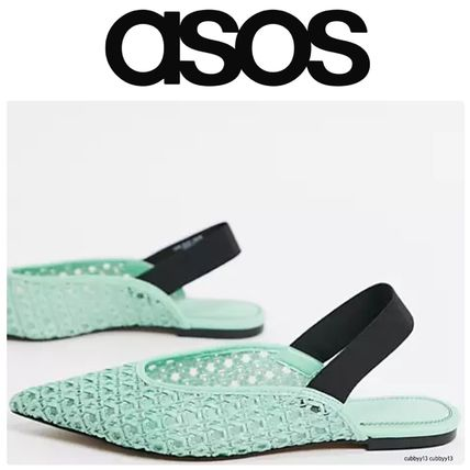 ASOS Studded Street Style Leather Ballet Shoes