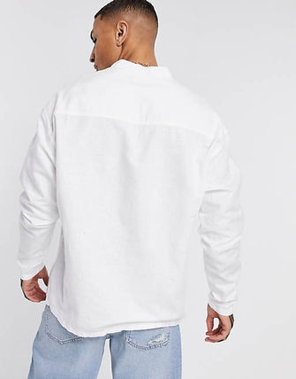 ASOS Shirts Asos Design Relaxed Fit Overhead Linen Shirt In White 3