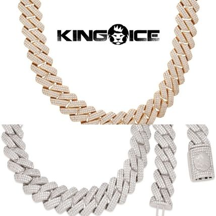 King Ice Necklaces & Chokers Unisex Street Style Chain Plain 18K Gold Logo