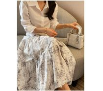 RONIEL Maxi Flared Skirts Flower Patterns Casual Style Maxi Cotton Long 4