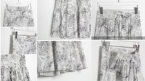 RONIEL Maxi Flared Skirts Flower Patterns Casual Style Maxi Cotton Long 15