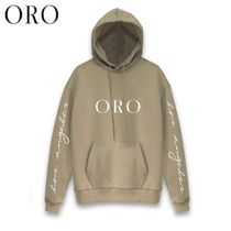ORO LOS ANGELES Pullovers Unisex Street Style Long Sleeves Plain Cotton