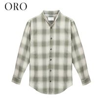 ORO LOS ANGELES Button-down Other Plaid Patterns Street Style Long Sleeves