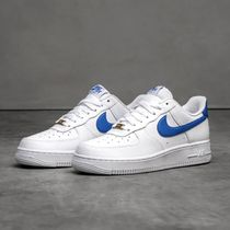 Nike AIR FORCE 1 Unisex Street Style Plain Leather Logo Sneakers