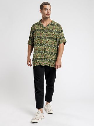 STUSSY Shirts Button-down Paisley Street Style Cotton Short Sleeves Logo 2