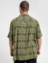 STUSSY Shirts Button-down Paisley Street Style Cotton Short Sleeves Logo 4