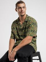 STUSSY Shirts Button-down Paisley Street Style Cotton Short Sleeves Logo 5