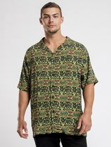 STUSSY Shirts Button-down Paisley Street Style Cotton Short Sleeves Logo 6