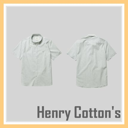 Henry Cottons More T-Shirts Unisex Blended Fabrics Tassel Street Style T-Shirts
