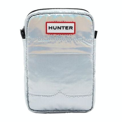 HUNTER Casual Style Street Style Plain Logo Shoulder Bags