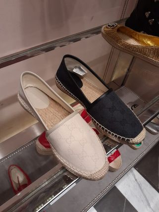 GUCCI Casual Style Elegant Style Logo Flats