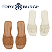 Tory Burch Casual Style Leather Elegant Style Logo Sandals
