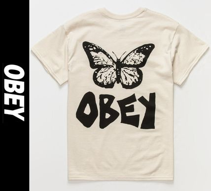 OBEY More T-Shirts Street Style Short Sleeves Logo Graphic Prints T-Shirts