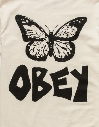 OBEY More T-Shirts Street Style Short Sleeves Logo Graphic Prints T-Shirts 3