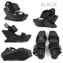 United Nude Open Toe Platform Casual Style Leather