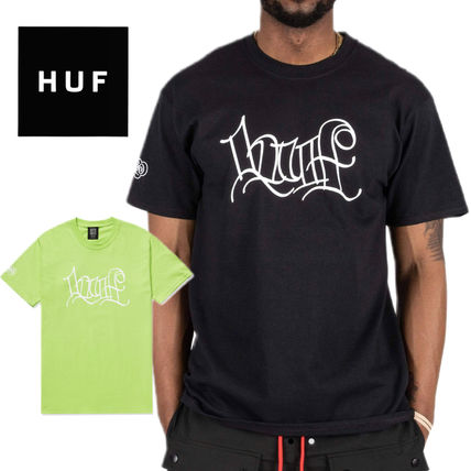 HUF More T-Shirts Unisex Street Style Collaboration Cotton Logo Skater Style