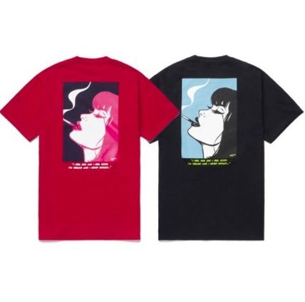 HUF More T-Shirts Unisex Street Style Collaboration Cotton Logo Skater Style 2
