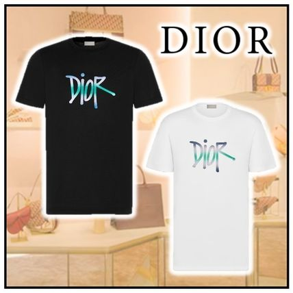 Christian Dior Crew Neck Cotton Short Sleeves Luxury Crew Neck T-Shirts