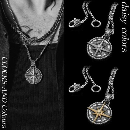CLOCKS AND Colours Necklaces & Chokers Star Street Style Chain Silver Logo Necklaces & Chokers